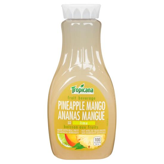 Tropicana Pineapple Mango Lime Fruit Beverage - 1.75L
