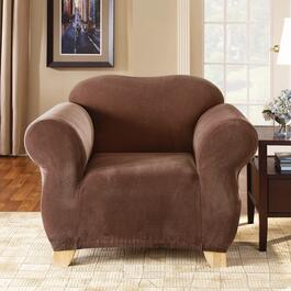 Surefit Stretch Piqué - Chocolate Slipcover for Chair  - 1pc.