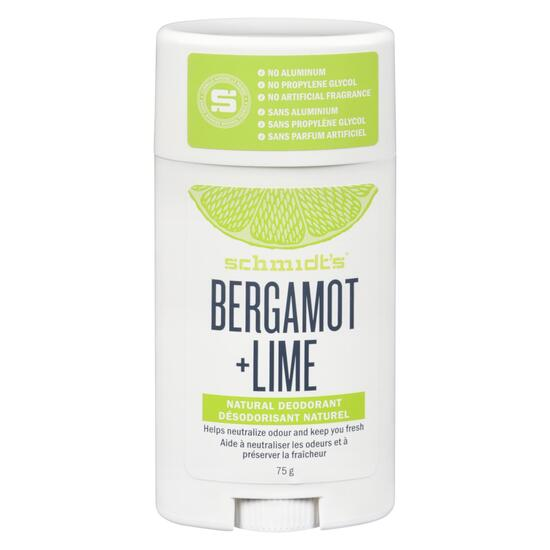 Schmidt's Natural Bergamot and Lime Deodorant Stick - 75g