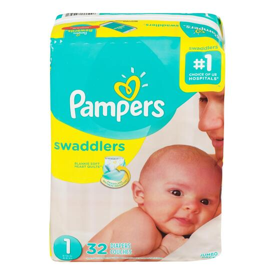 Pampers Swaddlers Size 1 Diapers - 32pk.