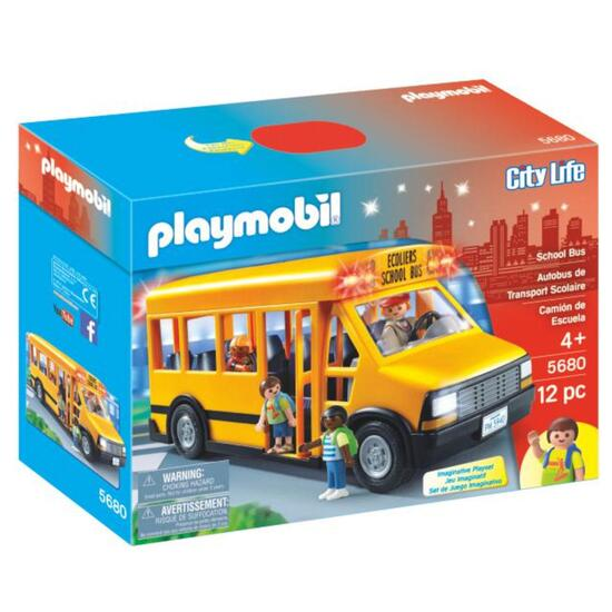 Playmobil School Bus Playset - 12pc.