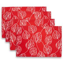 Piraeus Red Placemats 4pc. - 13in.x19in.
