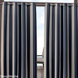 Exclusive Home Canopy Stripe Indoor Outdoor Curtain Panel 2pc. - 96in.