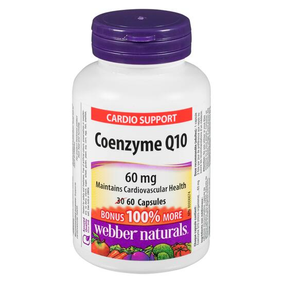 Webber Naturals Coenzyme Q10 60 mg - 60 Capsules