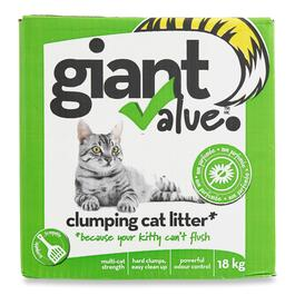 Giant Value Clumping Cat Litter - 18kg