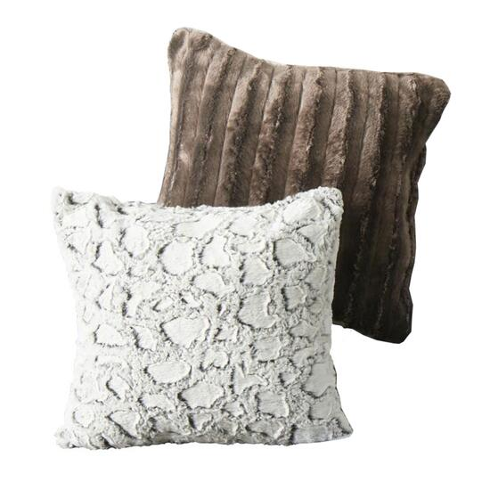 Faux Fur Cushion - 17in.