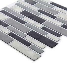 Truu Design Grey Multi Rectangle Wall Tiles - 6pk.