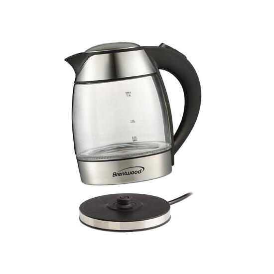 Brentwood Black Electric Glass Kettle with Tea Infuser - 1.8L