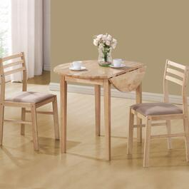 Monarch Specialties Natural Dinette Set - 3pc.