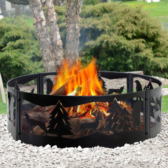 Pleasant Hearth Wilderness Fire Ring - 36 in.