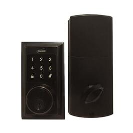 Tough Guard Square Electronic Deadbolt - Black Oil Rubbed Brass
