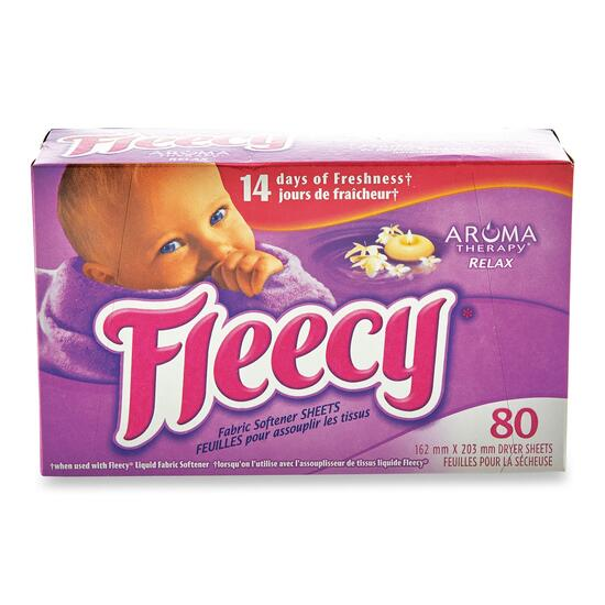 Fleecy Aroma Therapy Relax Dryer Sheets - 80pk.