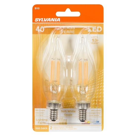 Sylvania 40W LED Light Bulbs - 2pk.