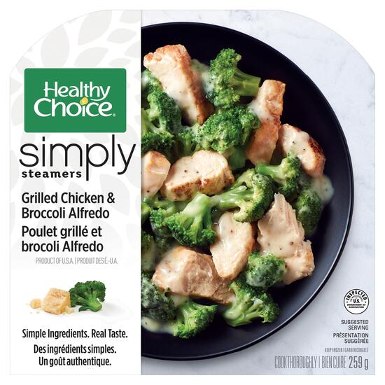 Healthy Choice Simply Steamers Grilled Chicken and Broccoli Alfredo - 259g