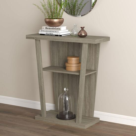 Safdie & Co. Dark Taupe Console Table