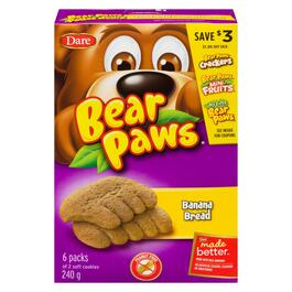 Bear Paws Soft Banana Bread Cookies - 240g