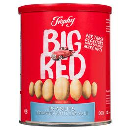 Trophy Big Red Roasted Peanuts with Sea Salt - 500g