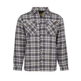 NAT'S Grey Quilted Flannel Work Shirt - XS-XXL