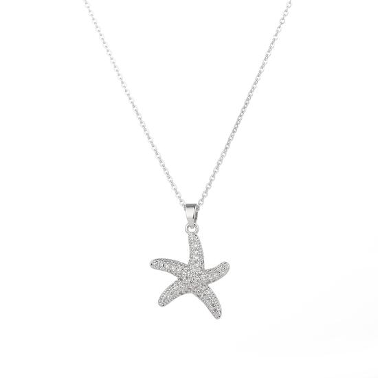 Silver & Co Necklace with Star Fish Pendant