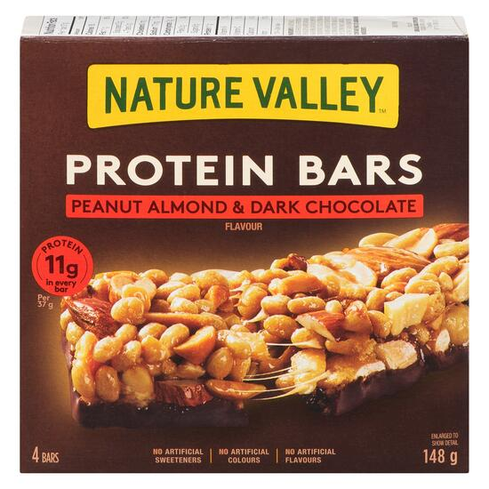 Nature Valley Peanut Almond and Dark Chocolate Protein Bars 4pk. - 148g