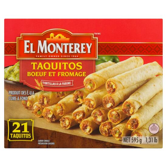 El Monterey Beef and Cheese Taquitos - 595g