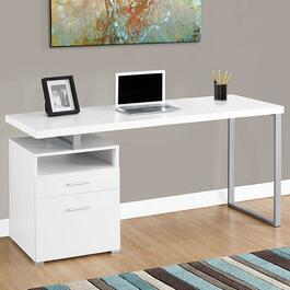 Monarch Specialties White Computer Desk - 60in.