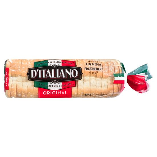 D'Italiano Original Thick Sliced White Bread  - 675g
