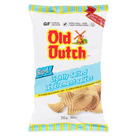 Old Dutch Rip-L Lightly Salted Potato Chips - 255g