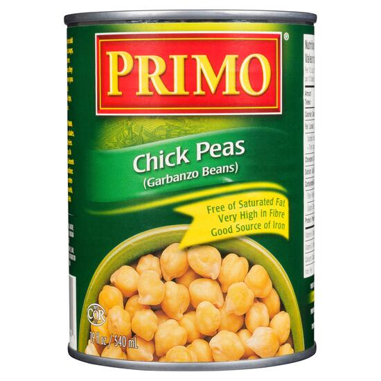 Primo Chick Peas Garbanzo Beans - 540ml