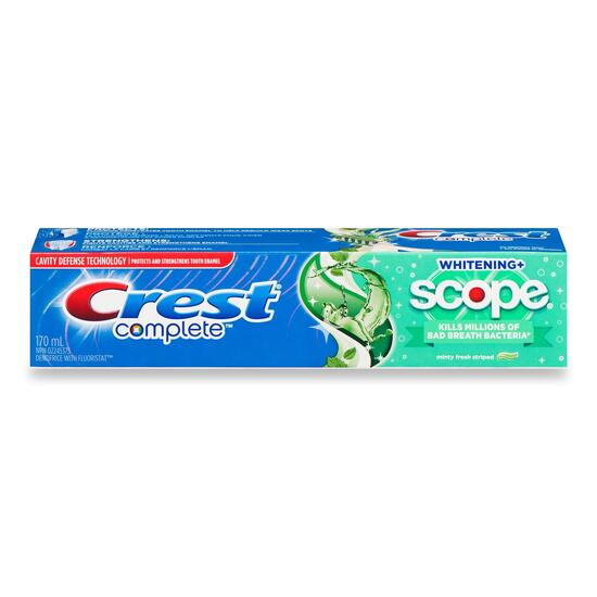 Crest Complete Whitening with Scope Minty Fresh Toothpaste - 170ml