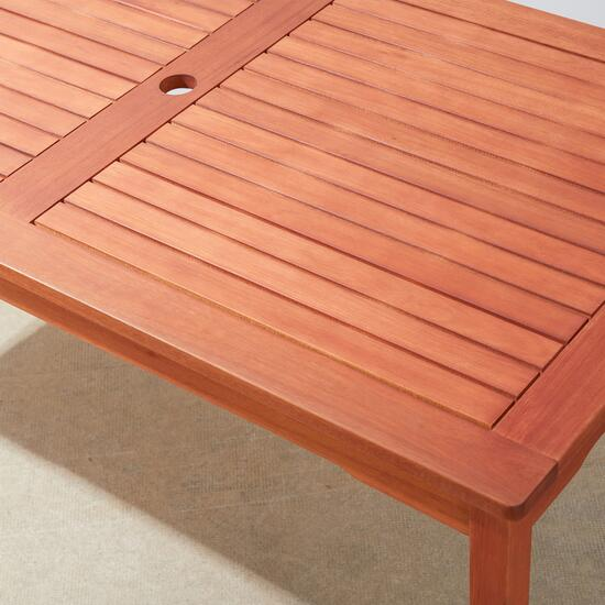 Vifah Malibu Outdoor Patio Rectangular Dining Table
