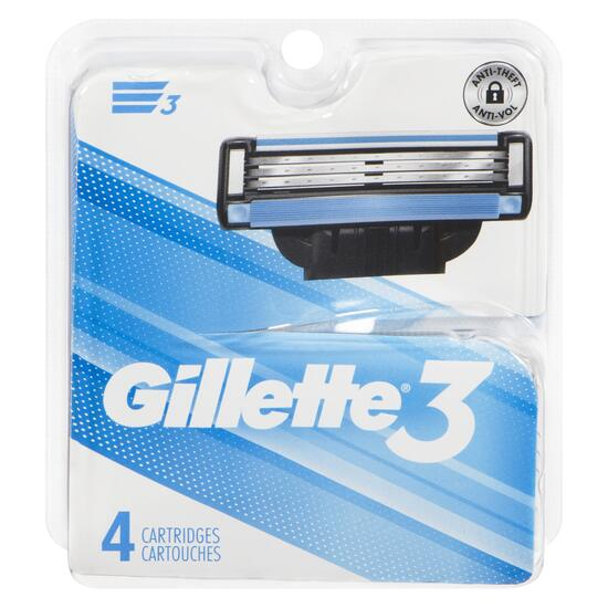 Gillette 3 Men's Razor Cartridge Refills - 4pk.