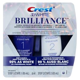 Crest 3D White Brillance Two Step Whitening System - 148ml