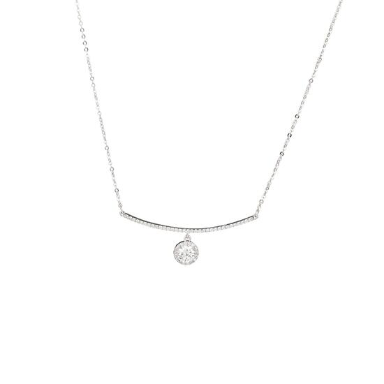 Silver & Co Necklace with bar pendant