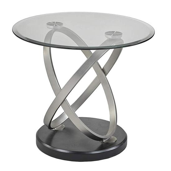Brassex Espresso Chantal End Table