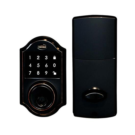 Tough Guard Ornate Electronic Deadbolt - Polish Black