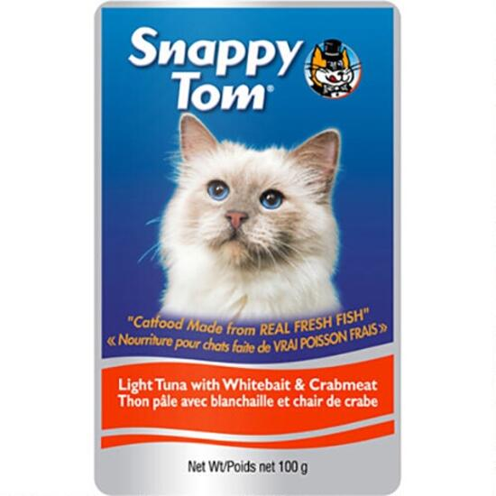 Snappy Tom Tuna with Whitebait and Crabmeat Cat Treats - 100g