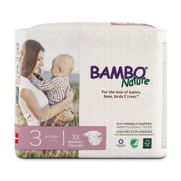 Bambo Nature Size 3 Baby Diapers 6 x 33pk.