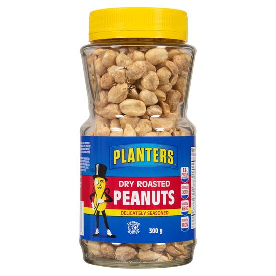 Planters Delicately Seasoned Dry Roasted Peanuts - 300g