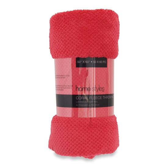HomeStyles Coral Fleece Throw - 60in.