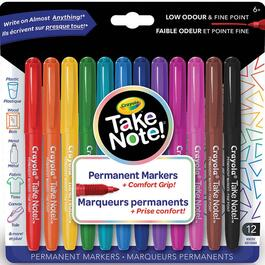 Crayola Take Note Permanent Markers - 12pk.