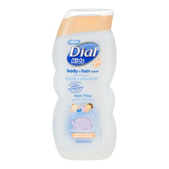 Dial Kids Peachy Clean Body and Hair Wash - 354ml