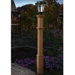 New England Arbors Charleston Composite Lamp Post
