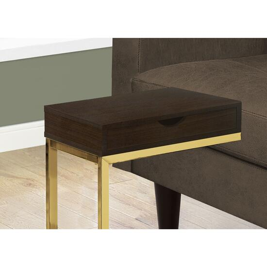 Monarch Specialties Cappuccino Accent Table with Drawer