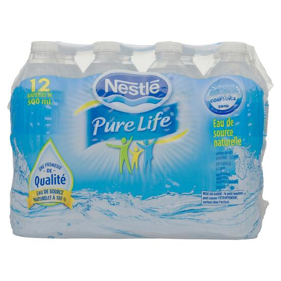 Pure Life Natural Spring Water 12pk. - 500ml