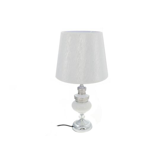 White Orb Ceramic Table Lamp with Shade