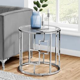 Monarch Specialities Accent Table with Tempered Glass