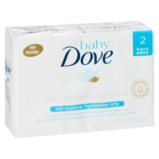 Baby Dove Rich Moisture Baby Bar - 2pk.