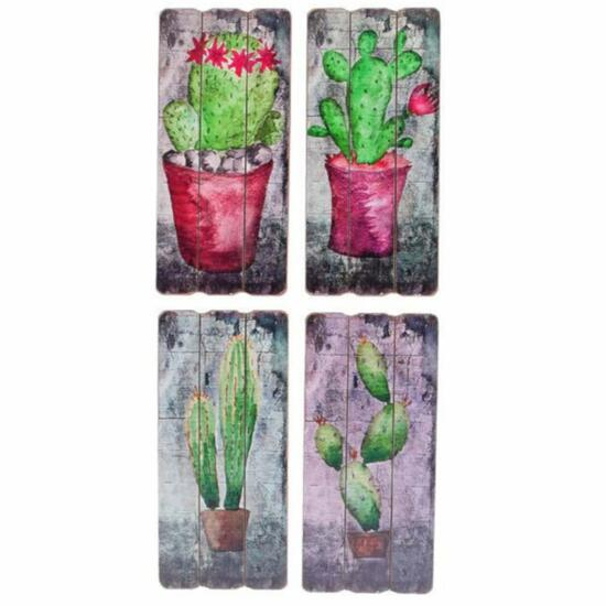 Cactus Wall Art 4 Different Styles - 14in.