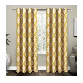 Exclusive Home Medallion Yellow Blackout Thermal Curtain Panels - 2pc.